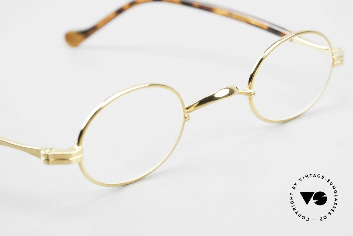 Lunor II A 04 Extra Kleine Brille Oval Vintage, altes, ungetragenes LUNOR Einzelstück von ca. 1998, Passend für Herren und Damen