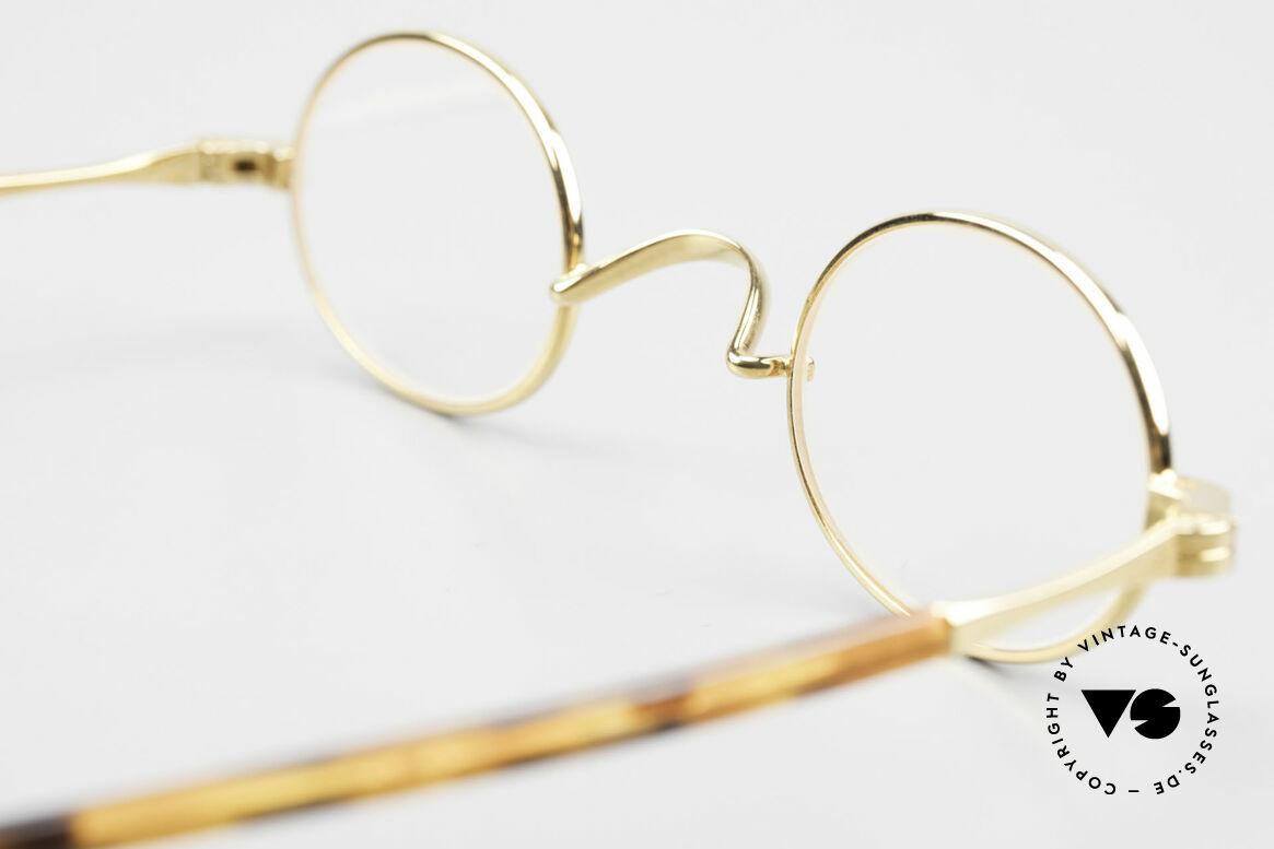 Lunor II A 04 Lunor Brille Oval Vintage Gold, Größe: small, Passend für Herren und Damen