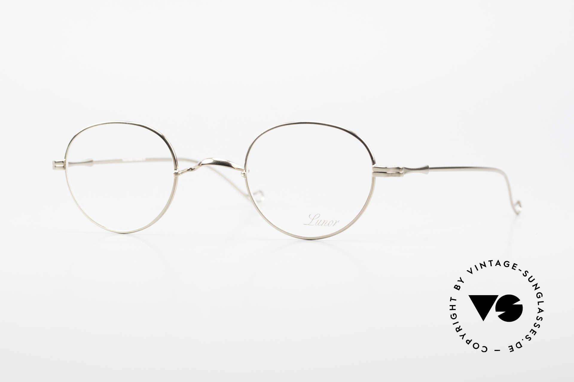 """Lunor II 22 Lunor Brille Vergoldet Panto, vintage Lunor Brille aus der alten Lunor """"II"""" Serie, Passend für Herren und Damen"""