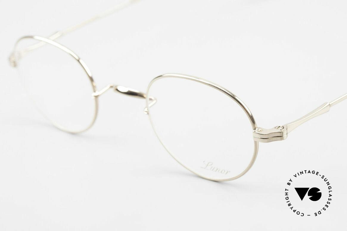 Lunor II 22 Lunor Brille Vergoldet Panto, edel, stilvoll, zeitlos = ein wahres LUNOR ORIGINAL, Passend für Herren und Damen
