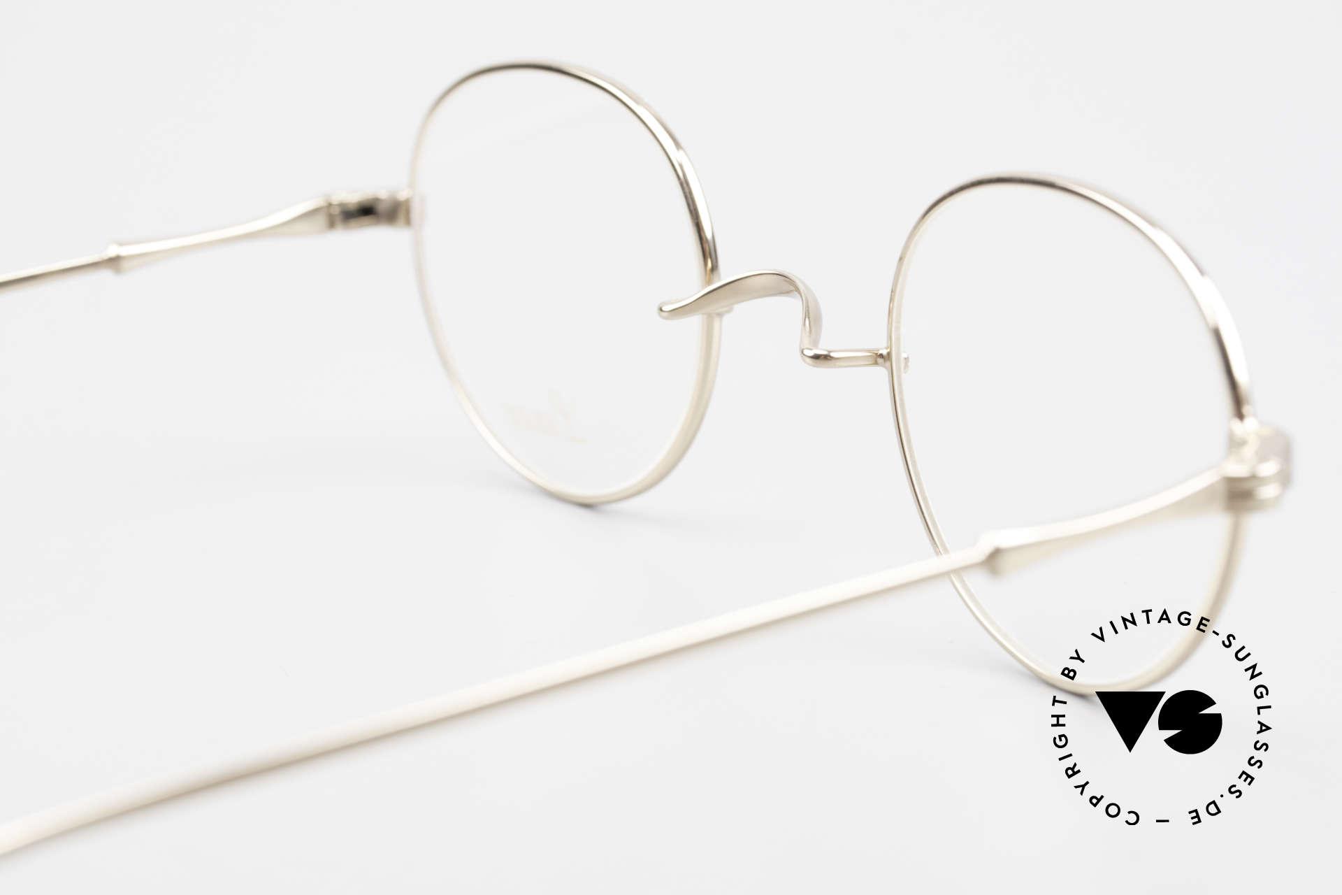 Lunor II 22 Lunor Brille Vergoldet Panto, Größe: medium, Passend für Herren und Damen