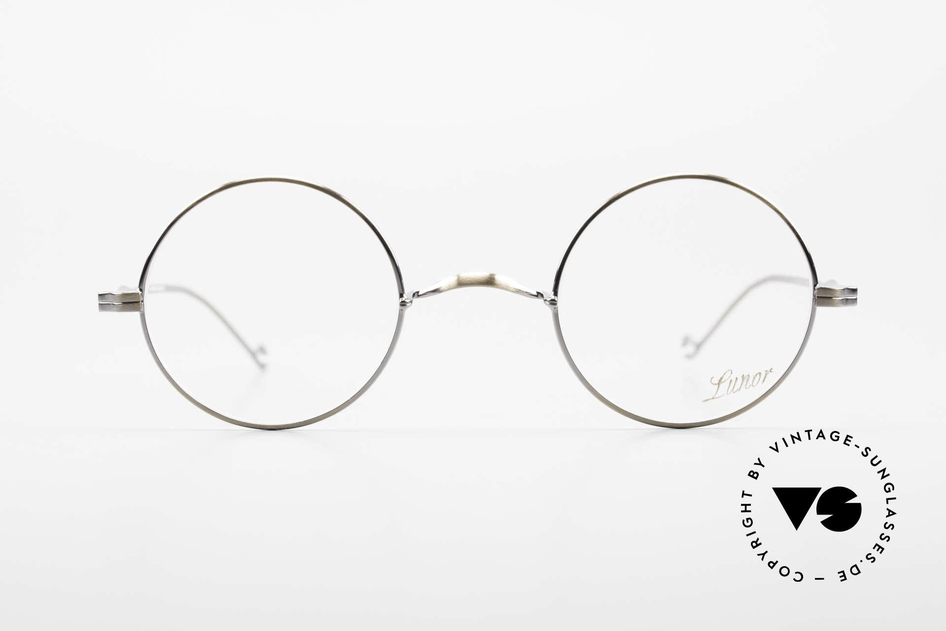 """Lunor II 23 Runde Lunor Brille Antik Gold, Vollrand-Metallfassung; sehr edel in """"antik gold"""", Passend für Herren und Damen"""