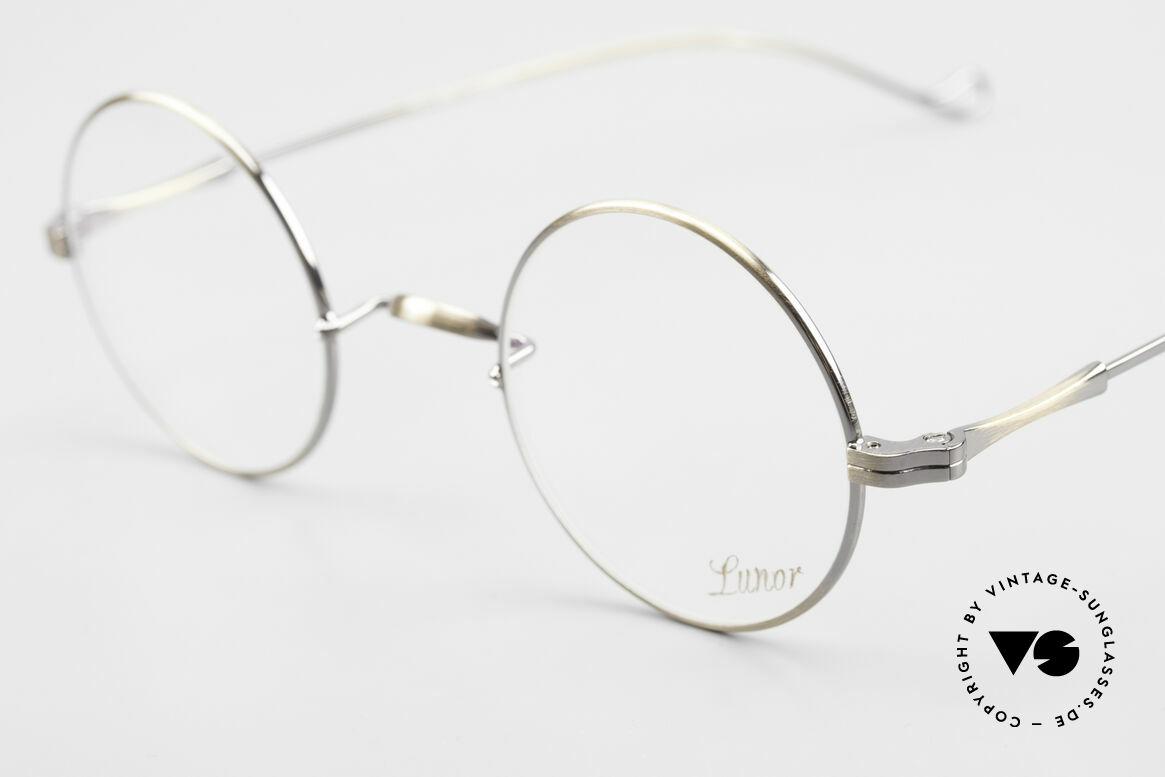 Lunor II 23 Runde Lunor Brille Antik Gold, edel, stilvoll, zeitlos = ein wahres LUNOR ORIGINAL, Passend für Herren und Damen