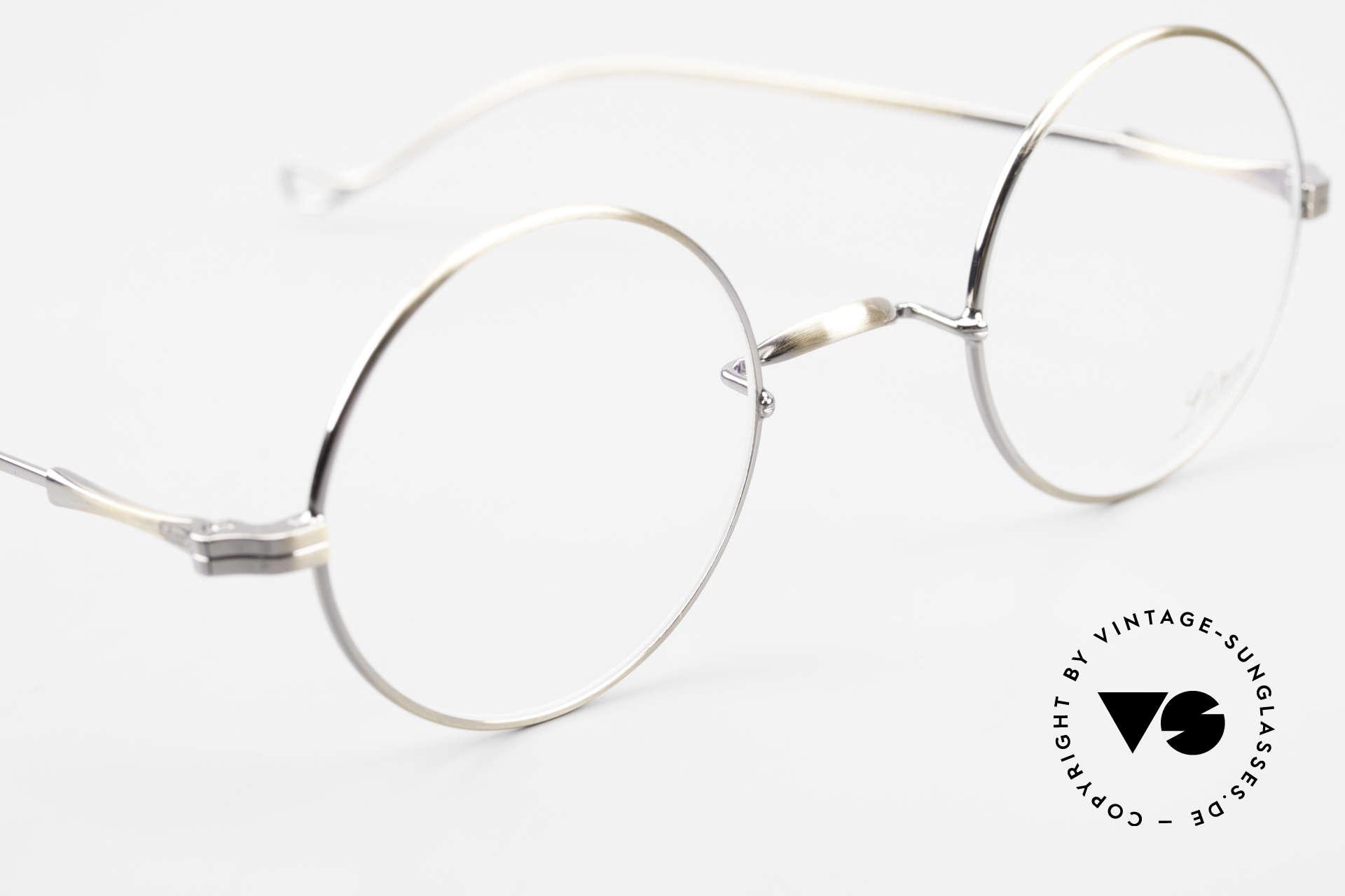 Lunor II 23 Runde Lunor Brille Antik Gold, altes, ungetragenes LUNOR Einzelstück, RARITÄT!, Passend für Herren und Damen