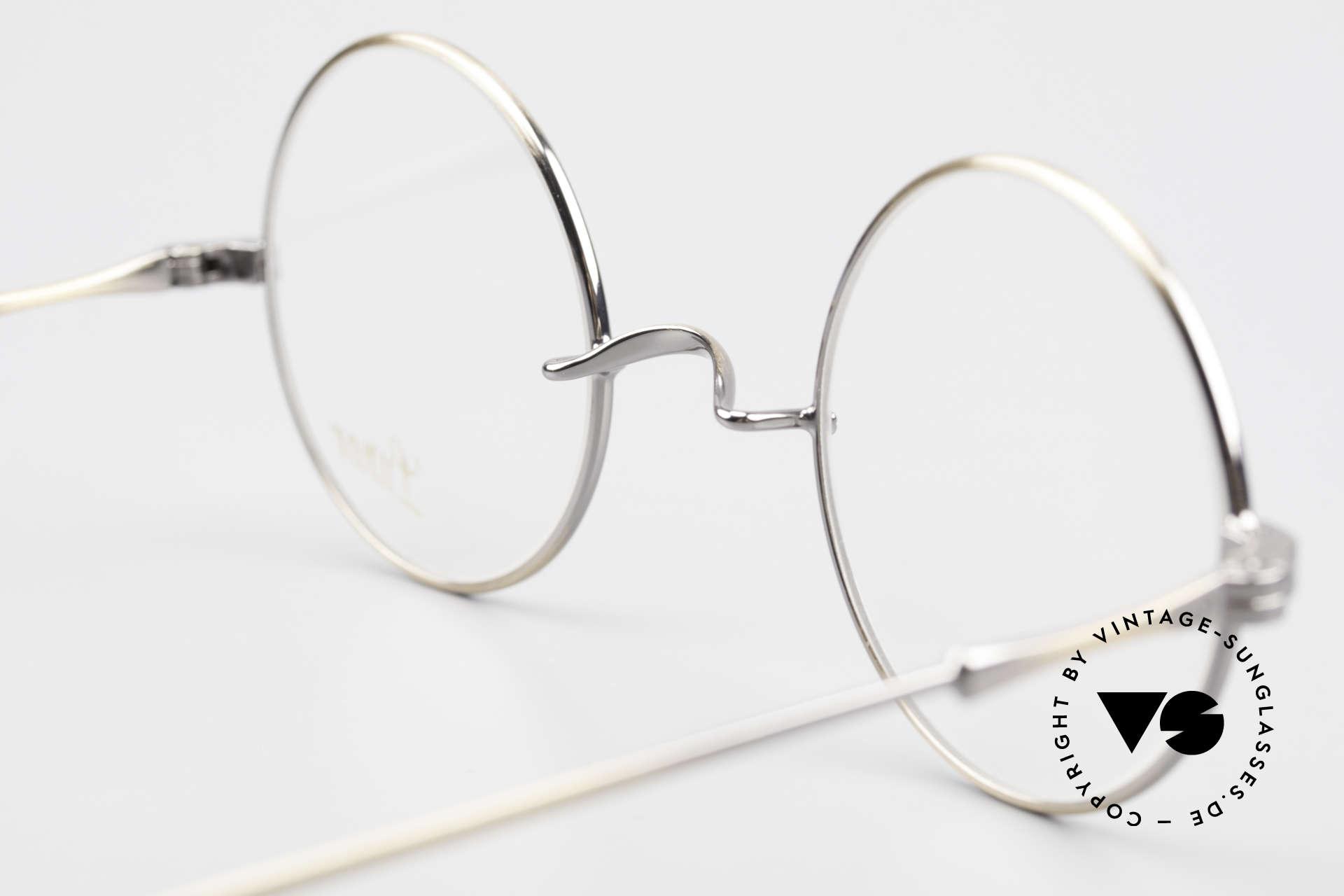 Lunor II 23 Runde Lunor Brille Antik Gold, Größe: medium, Passend für Herren und Damen