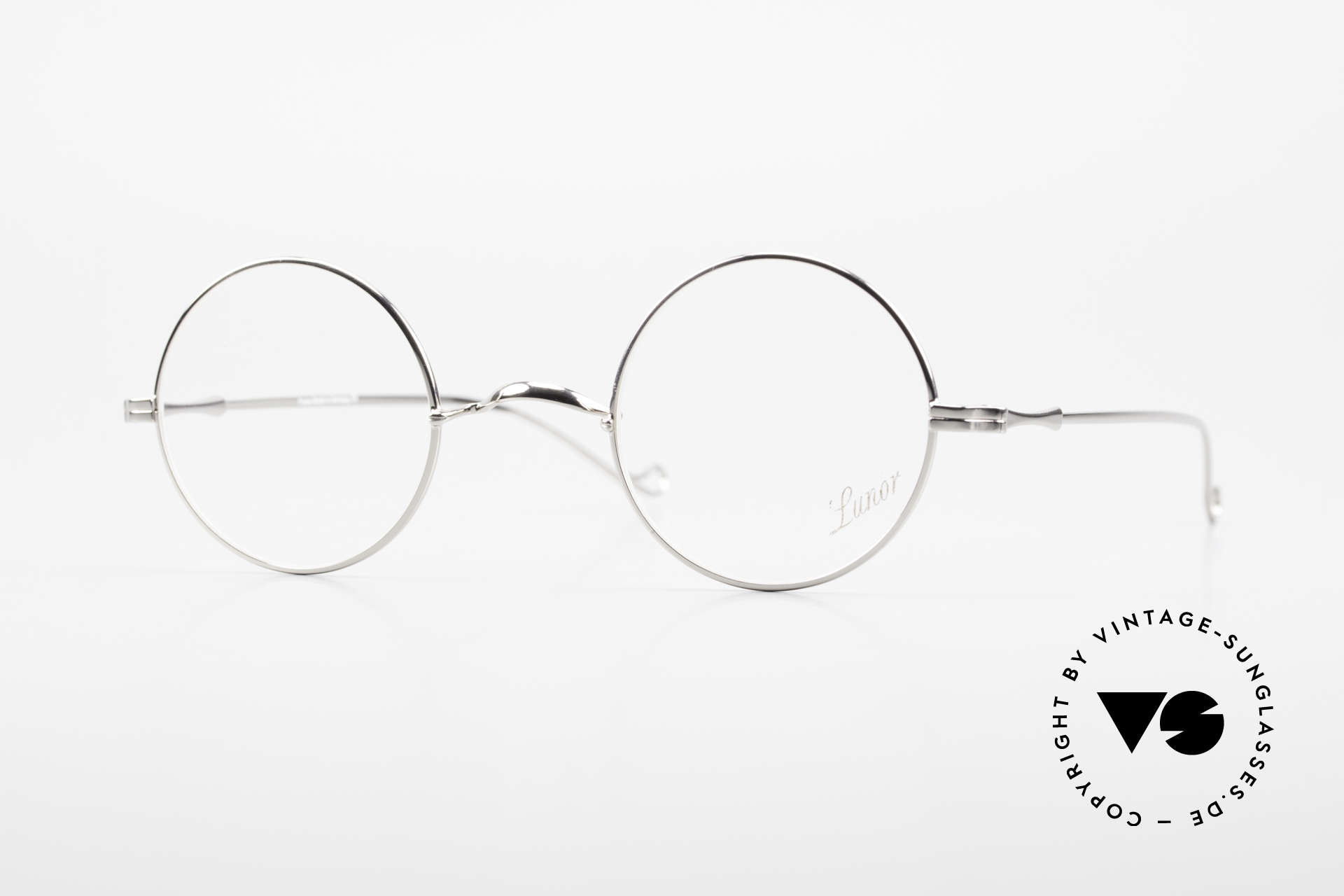 """Lunor II 23 Runde Lunor Brille Limited, runde Lunor Brille aus der alten """"LUNOR II"""" Serie, Passend für Herren und Damen"""