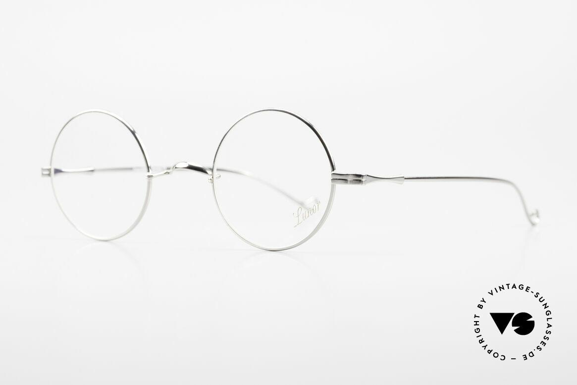Lunor II 23 Runde Lunor Brille Limited, kreisrunde Rahmenform (in M Gr. 42mm) mit W-Steg, Passend für Herren und Damen