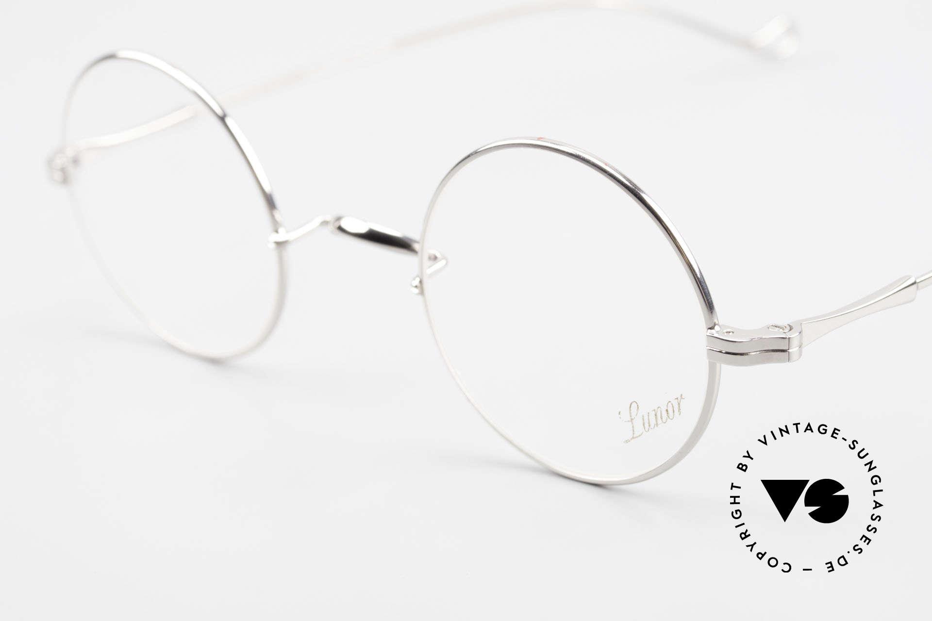 Lunor II 23 Runde Lunor Brille Limited, edel, stilvoll, zeitlos = ein wahres LUNOR ORIGINAL, Passend für Herren und Damen