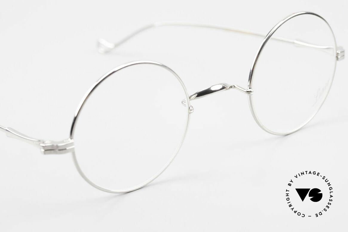 Lunor II 23 Runde Lunor Brille Limited, altes, ungetragenes LUNOR Einzelstück, RARITÄT!, Passend für Herren und Damen