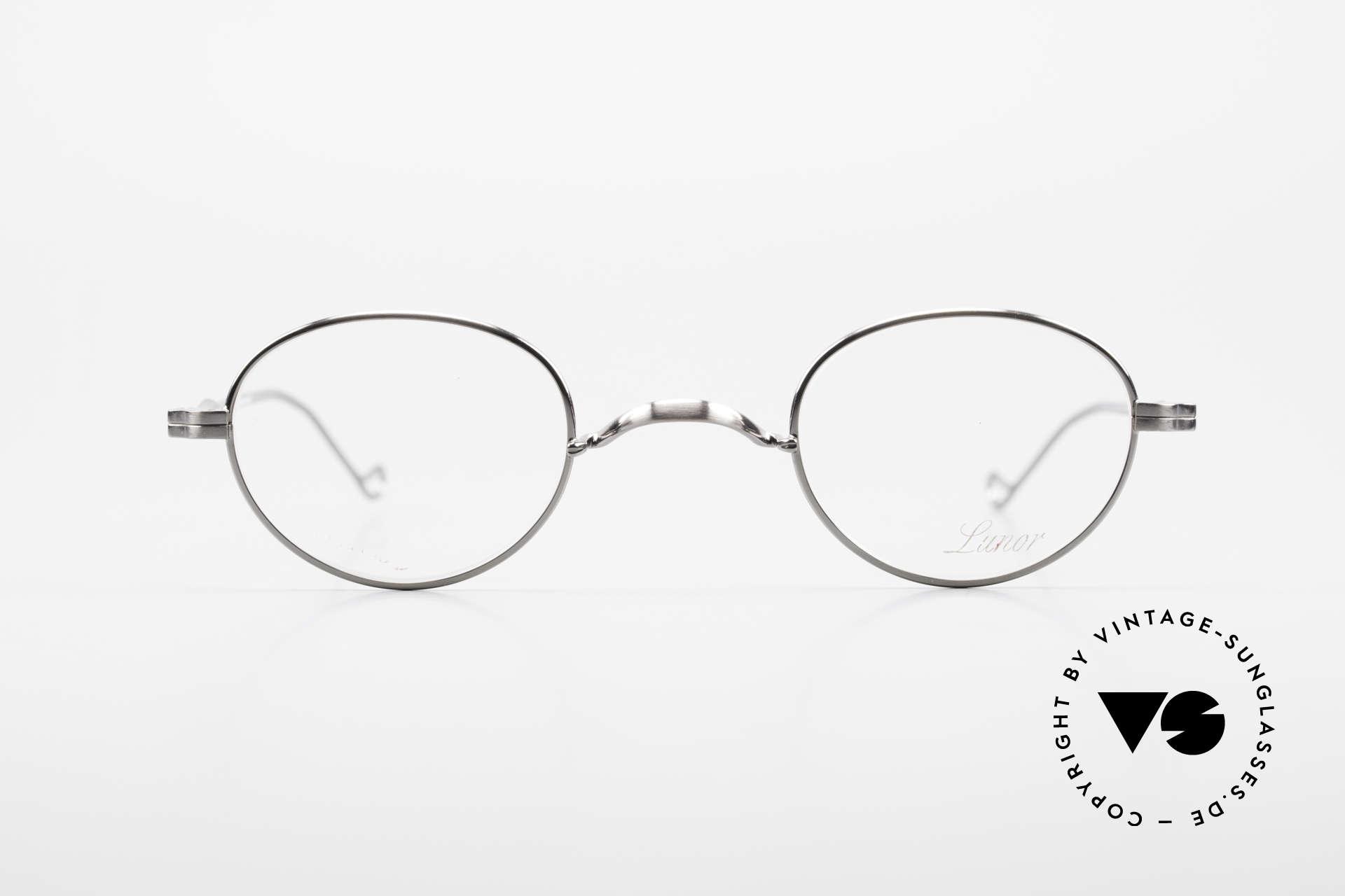 Lunor II 20 Lunor Brille Klein Unisex 90er, Vollrand-Metallfassung mit hochwertigem Schutzlack, Passend für Herren und Damen