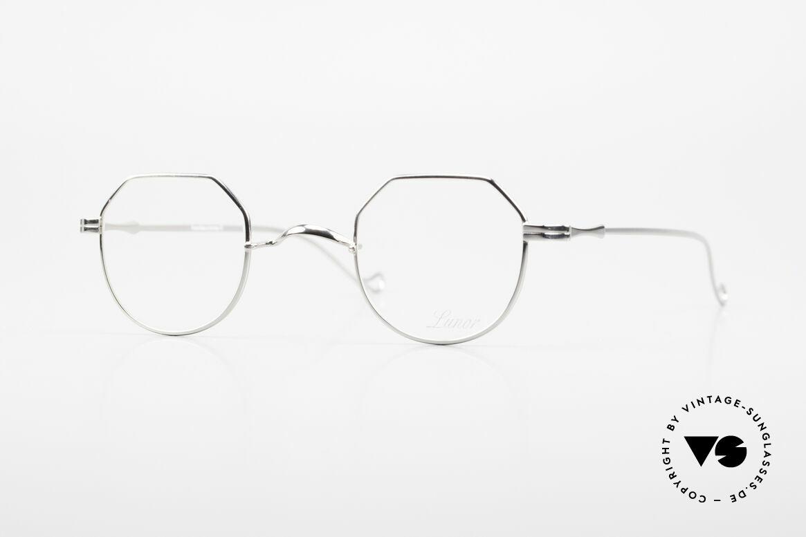 """Lunor II 18 Eckige Pantobrille Metall 90er, vintage Lunor Brille aus der alten Lunor """"II"""" Serie, Passend für Herren und Damen"""