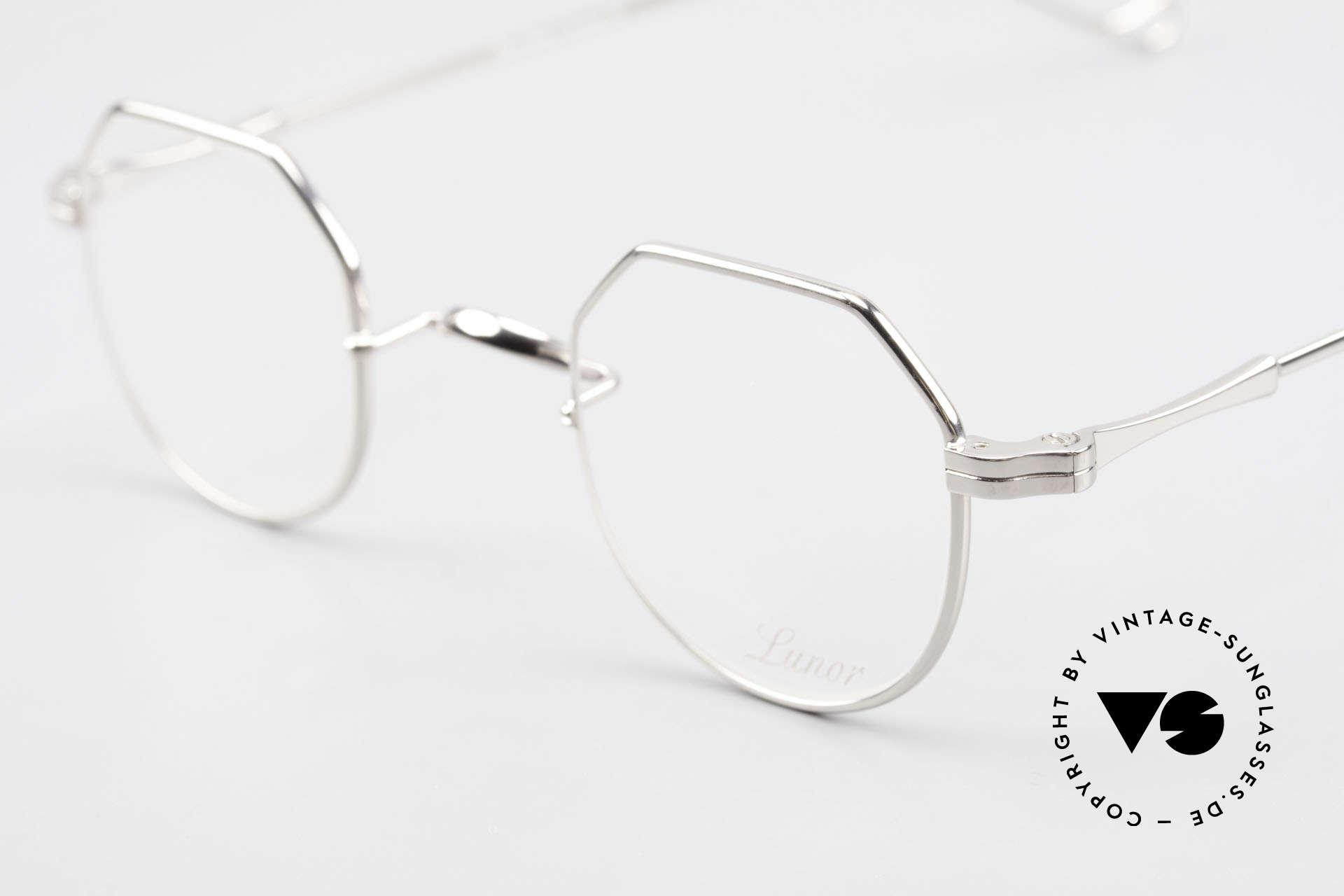 Lunor II 18 Eckige Pantobrille Metall 90er, edel, stilvoll, zeitlos = ein wahres LUNOR ORIGINAL, Passend für Herren und Damen