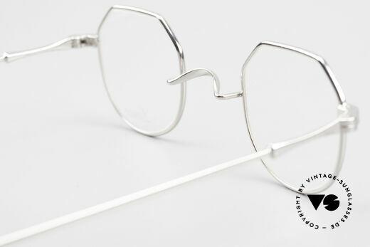 Lunor II 18 Eckige Pantobrille Metall 90er, diese Qualitätsfassung kann beliebig verglast werden, Passend für Herren und Damen
