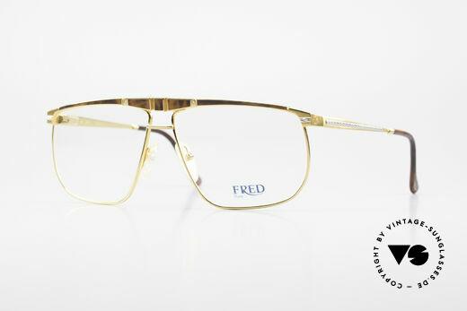 Fred Ocean Luxusbrille Herren Vergoldet Details
