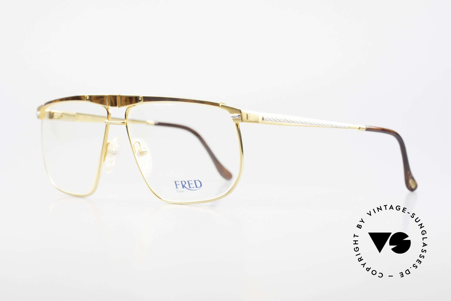 Fred Ocean Luxusbrille Herren Vergoldet, eine absolute Luxusbrille (22kt vergoldet) für Kenner, Passend für Herren