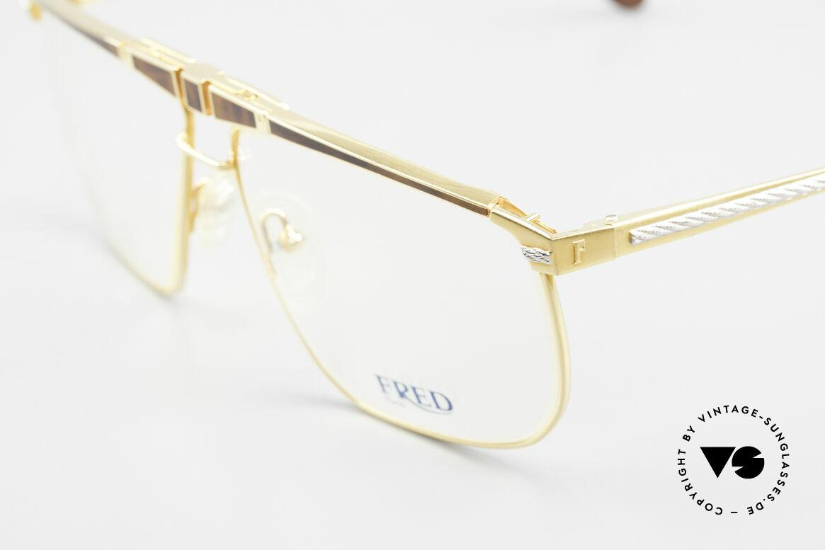 Fred Ocean Luxusbrille Herren Vergoldet, mit orig. DEMO-Gläsern & orig. Ocean Sonnengläsern, Passend für Herren