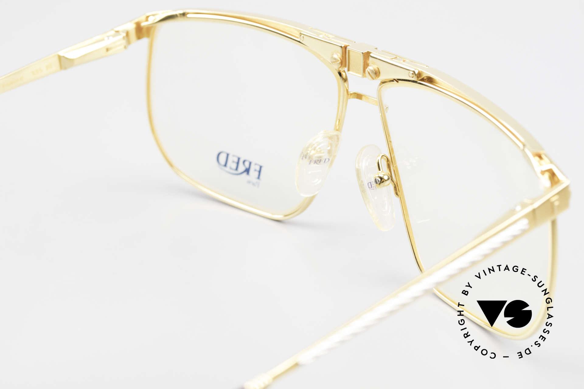 Fred Ocean Luxusbrille Herren Vergoldet, Lieferung in einer Fred Box und einem LONGINES Etui, Passend für Herren