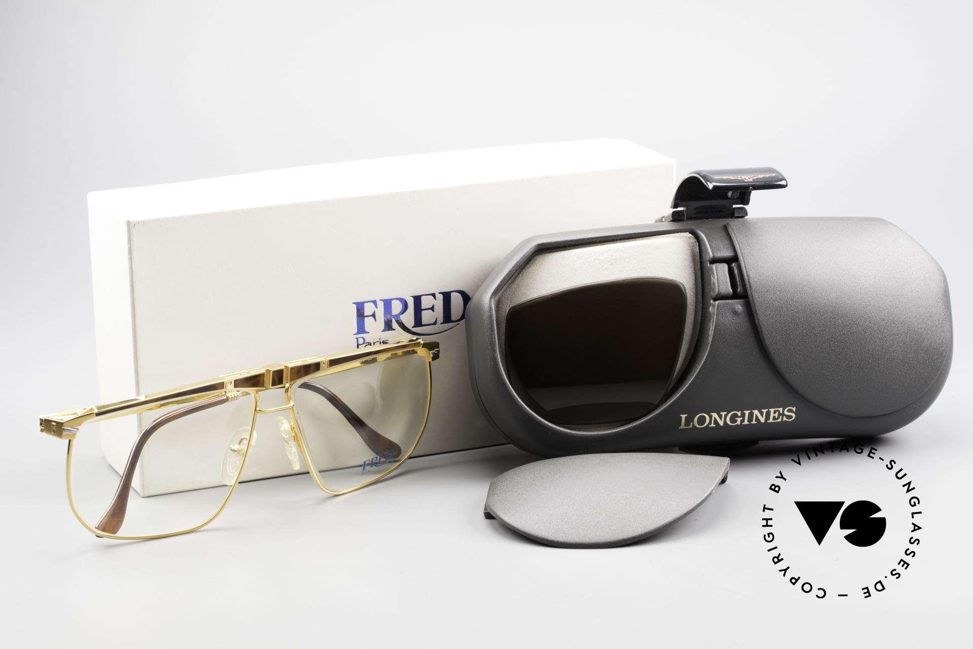 Fred Ocean Luxusbrille Herren Vergoldet, Größe: medium, Passend für Herren