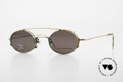 Koh Sakai KS9711 Vintage Brille Oval mit Clip Details