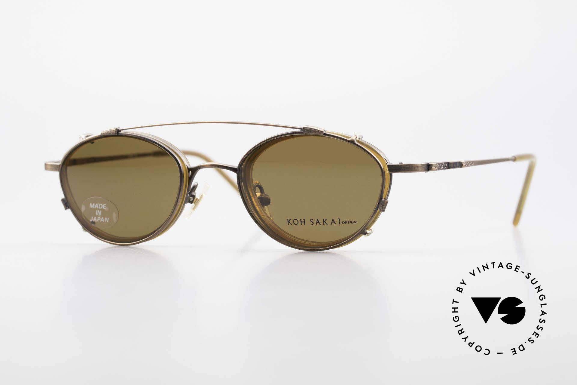 Koh Sakai KS9832 Vintage Brille Mit SonnenClip, vintage Brille Koh Sakai 9832, 45-21 mit Sonnen-Clip, Passend für Herren und Damen
