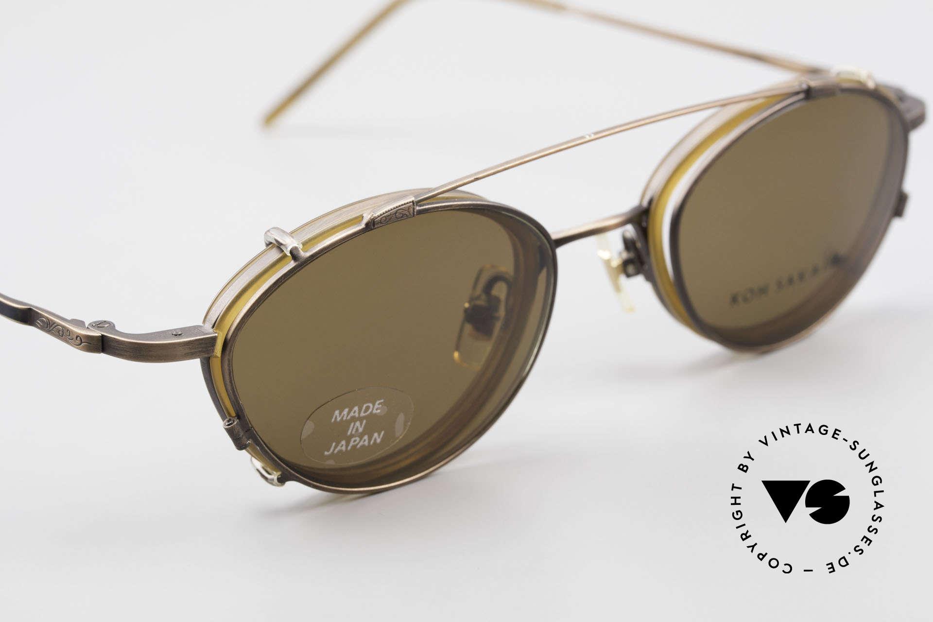Koh Sakai KS9832 Vintage Brille Mit SonnenClip, entsprechend sind Qualität & Anmutung identisch top, Passend für Herren und Damen