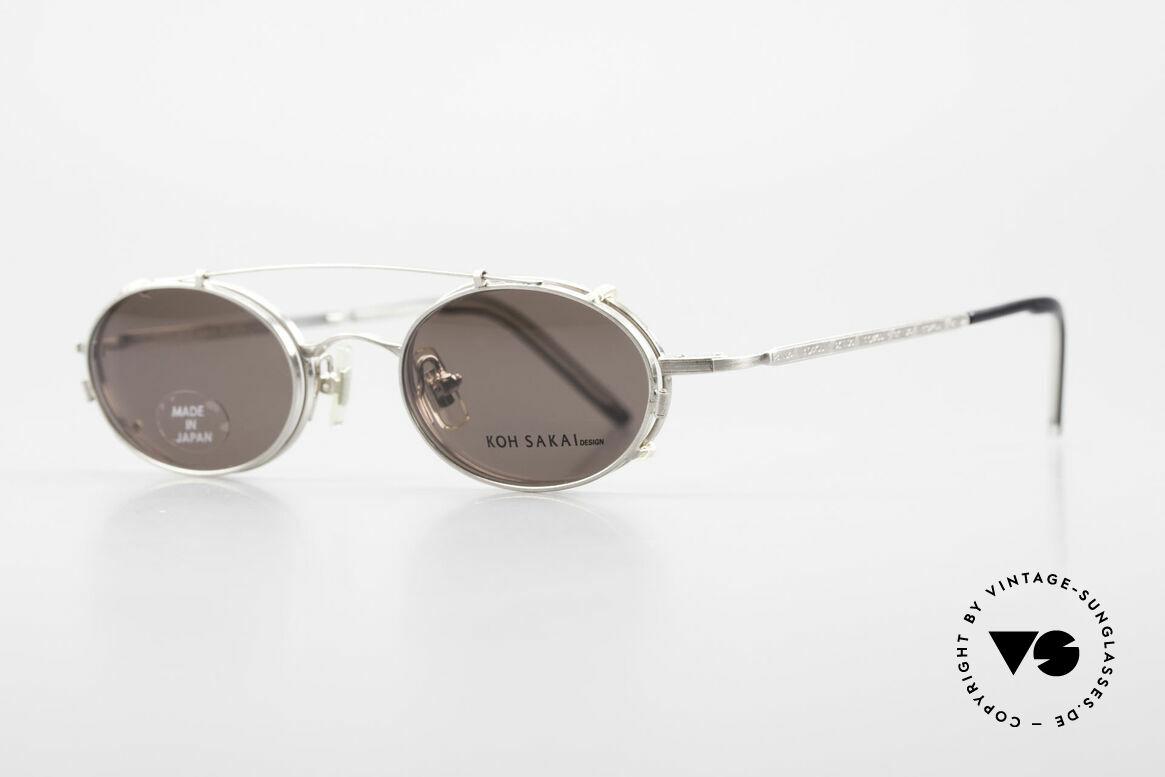 Koh Sakai KS9781 Vintage Brille Metall Unisex, 1997 in Los Angeles designed & in Sabae (JP) produziert, Passend für Herren und Damen