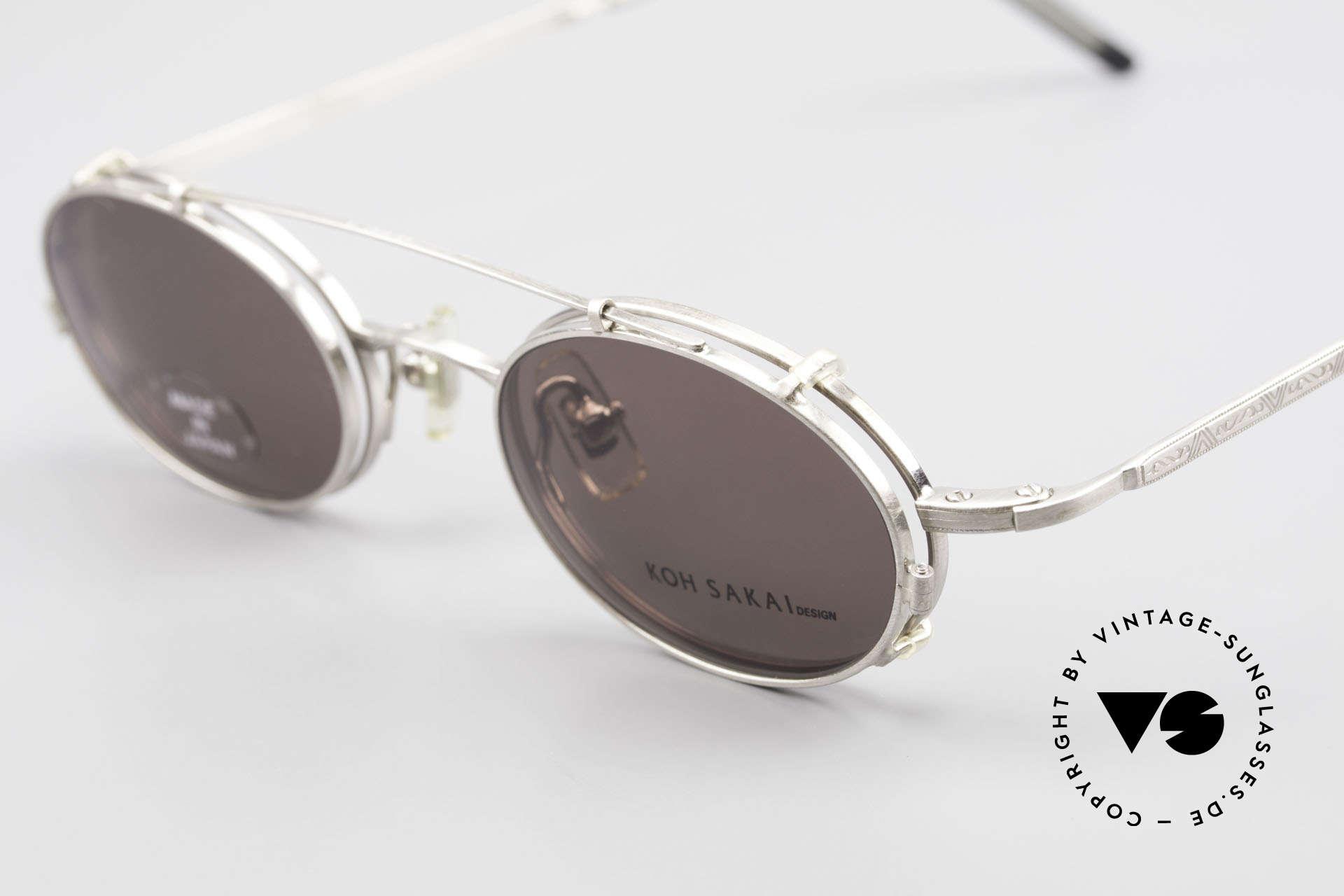 Koh Sakai KS9781 Vintage Brille Metall Unisex, aus dem gleichen Werk wie Oliver Peoples und Eyevan, Passend für Herren und Damen