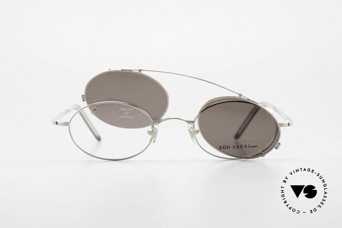 Koh Sakai KS9781 Vintage Brille Metall Unisex, Größe: small, Passend für Herren und Damen