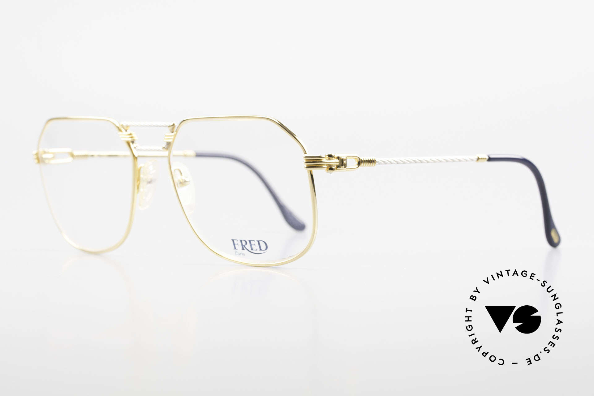 """Fred Cap Horn - L Rare Vintage Brille 80er Luxus, Mod. """"Cap Horn"""" ist der südlichste Punkt Südamerikas, Passend für Herren"""