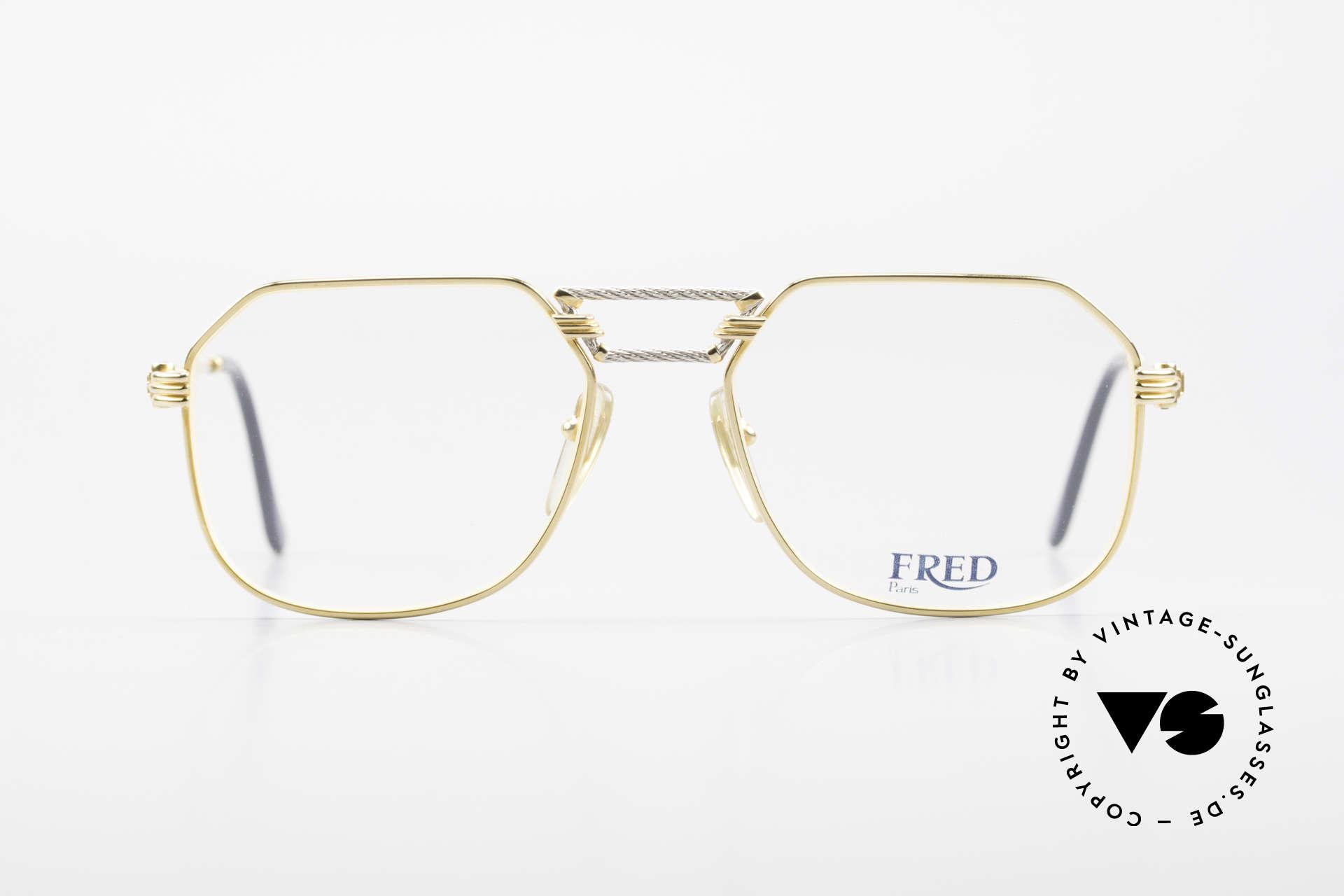 Fred Cap Horn - M Rare 80er Vintage Brille Luxus, marines Design (charakteristisch Fred) in Top-Qualität, Passend für Herren