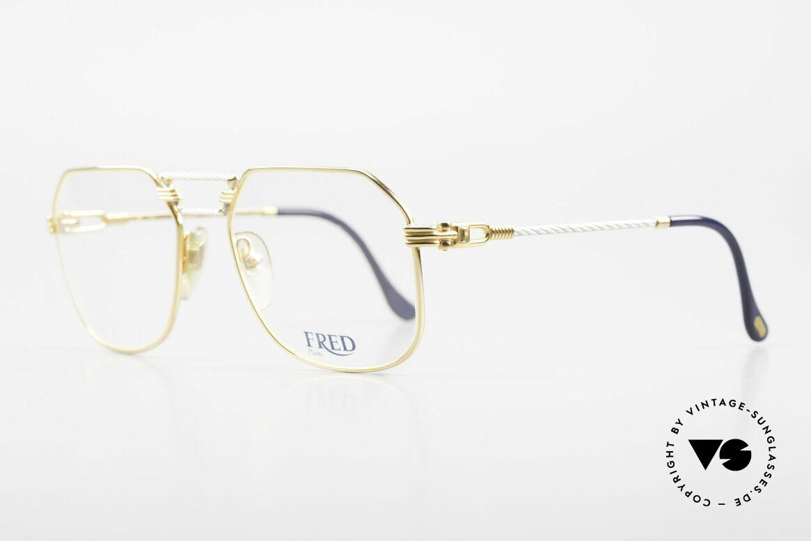 """Fred Cap Horn - M Rare 80er Vintage Brille Luxus, Mod. """"Cap Horn"""" ist der südlichste Punkt Südamerikas, Passend für Herren"""