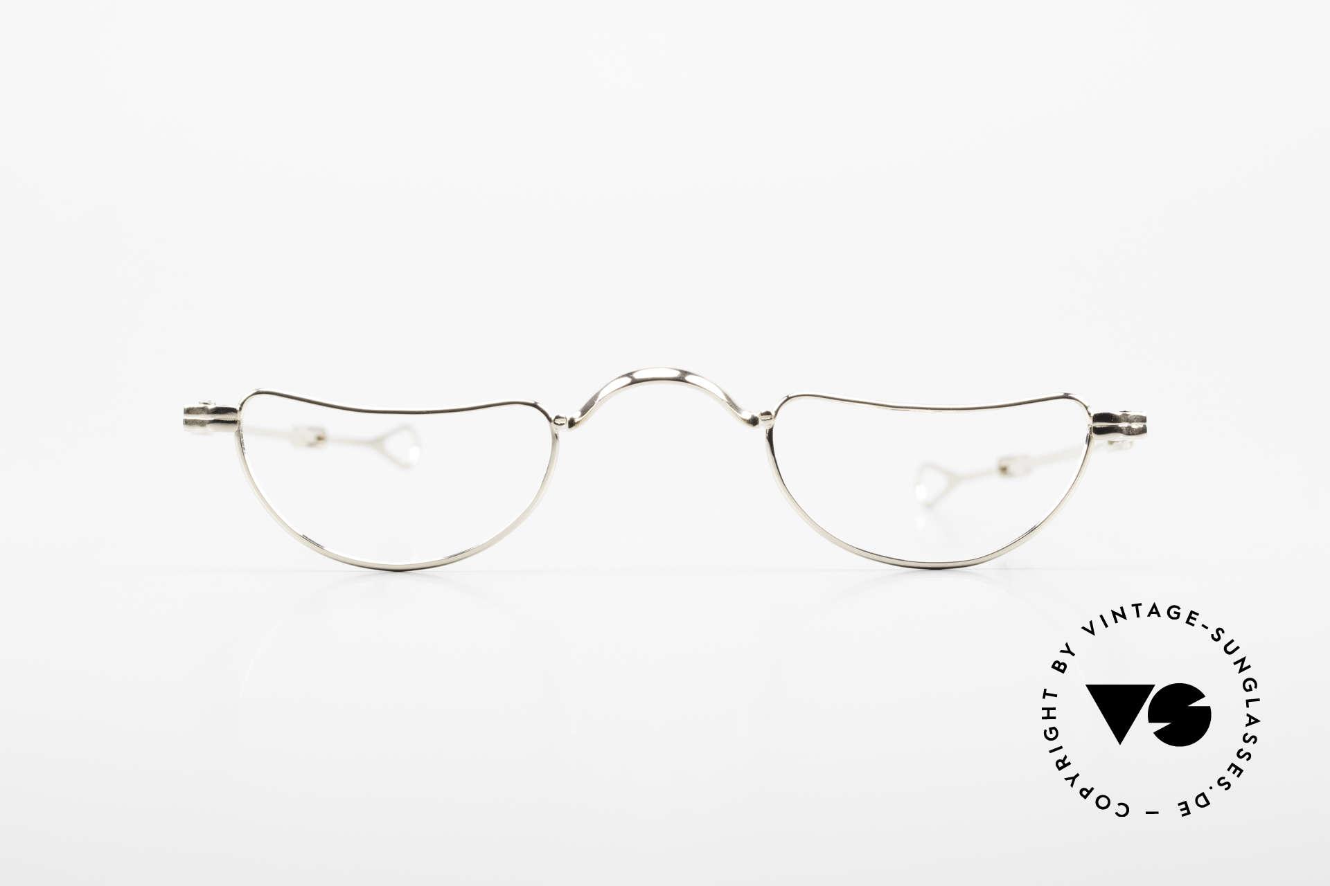 Lunor Goldbrille Echtgold Brille 16kt Lesebrille, Modell I-07 = 1. Serie 07. Mod. = Echtgold Lesebrille, Passend für Herren und Damen
