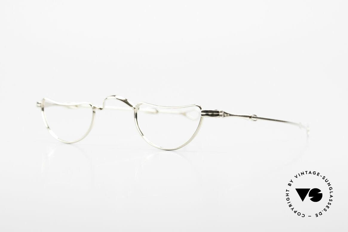 Lunor Goldbrille Echtgold Brille 16kt Lesebrille, die Fassung besteht zu 16kt aus Gold und 2kt Platin, Passend für Herren und Damen