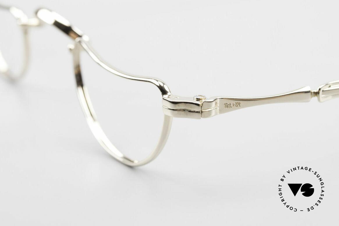 Lunor Goldbrille Echtgold Brille 16kt Lesebrille, Lunor Firmen-Geschichte! (nur 100 Stück gefertigt), Passend für Herren und Damen
