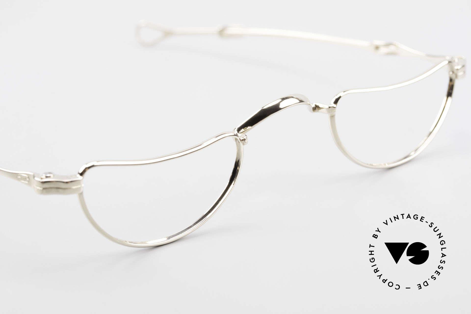 Lunor Goldbrille Echtgold Brille 16kt Lesebrille, ungetragenes Einzelstück für alle Qualitätsliebhaber, Passend für Herren und Damen