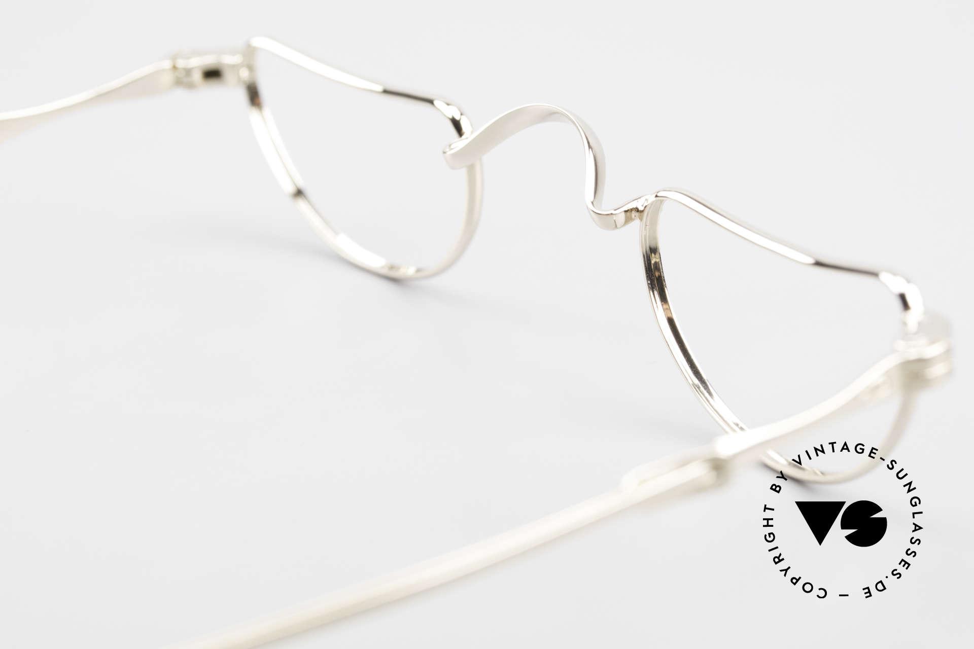 Lunor Goldbrille Echtgold Brille 16kt Lesebrille, Größe: extra small, Passend für Herren und Damen