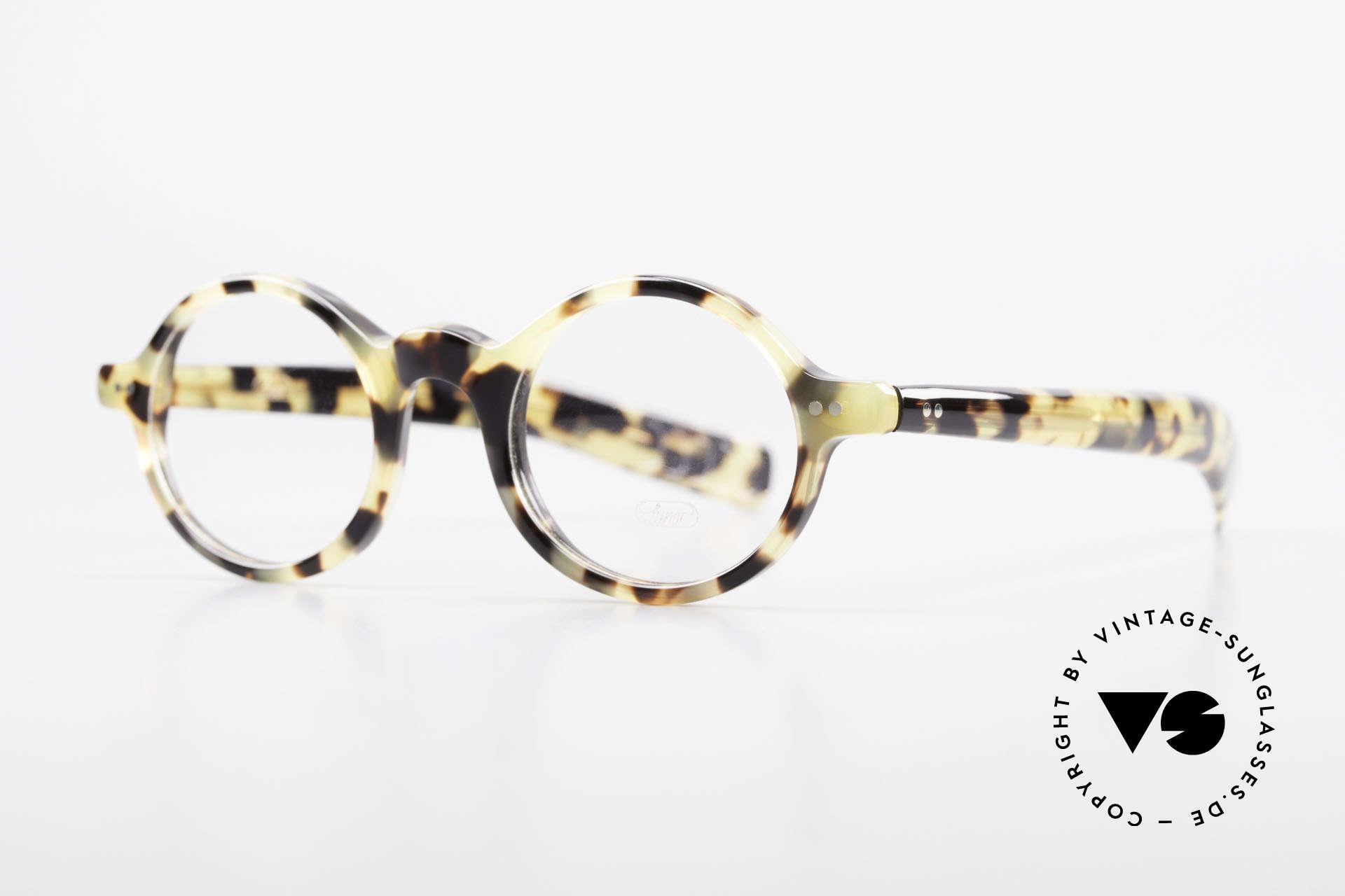 Lunor A52 Ovale Lunor Brille Acetat, ovale Fassung im stilvollen 'Tokyo Tortoise' Muster, Passend für Herren und Damen