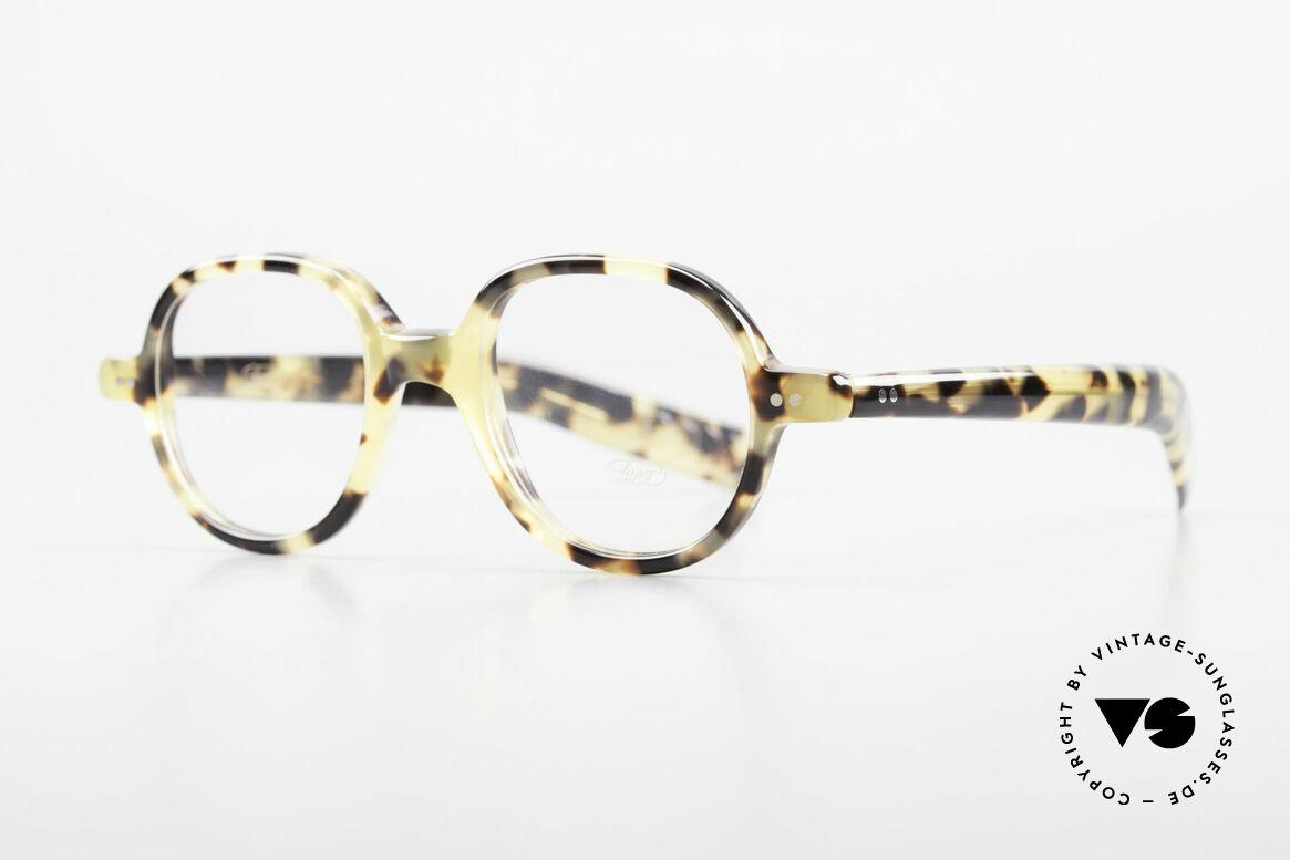 Lunor A50 Runde Lunor Pantobrille Acetat, runde Fassung im stilvollen 'Tokyo Tortoise' Muster, Passend für Herren und Damen