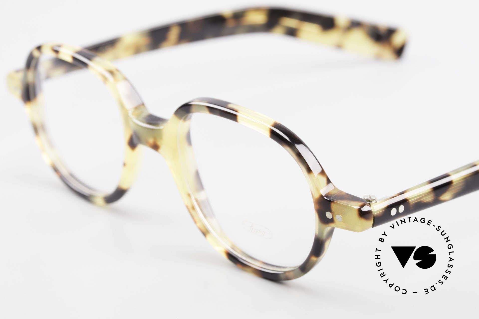 Lunor A50 Runde Lunor Pantobrille Acetat, 100% made in Germany, handpoliert, ein Klassiker!, Passend für Herren und Damen