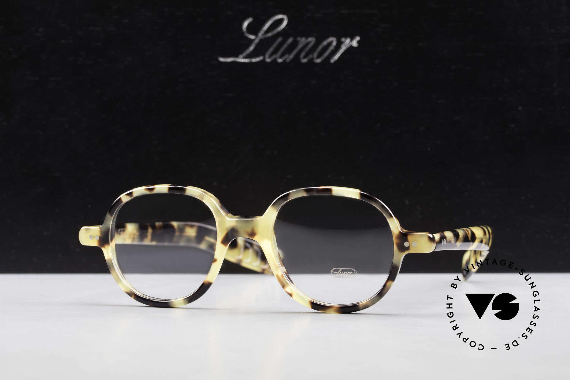 Lunor A50 Runde Lunor Pantobrille Acetat, Größe: medium, Passend für Herren und Damen
