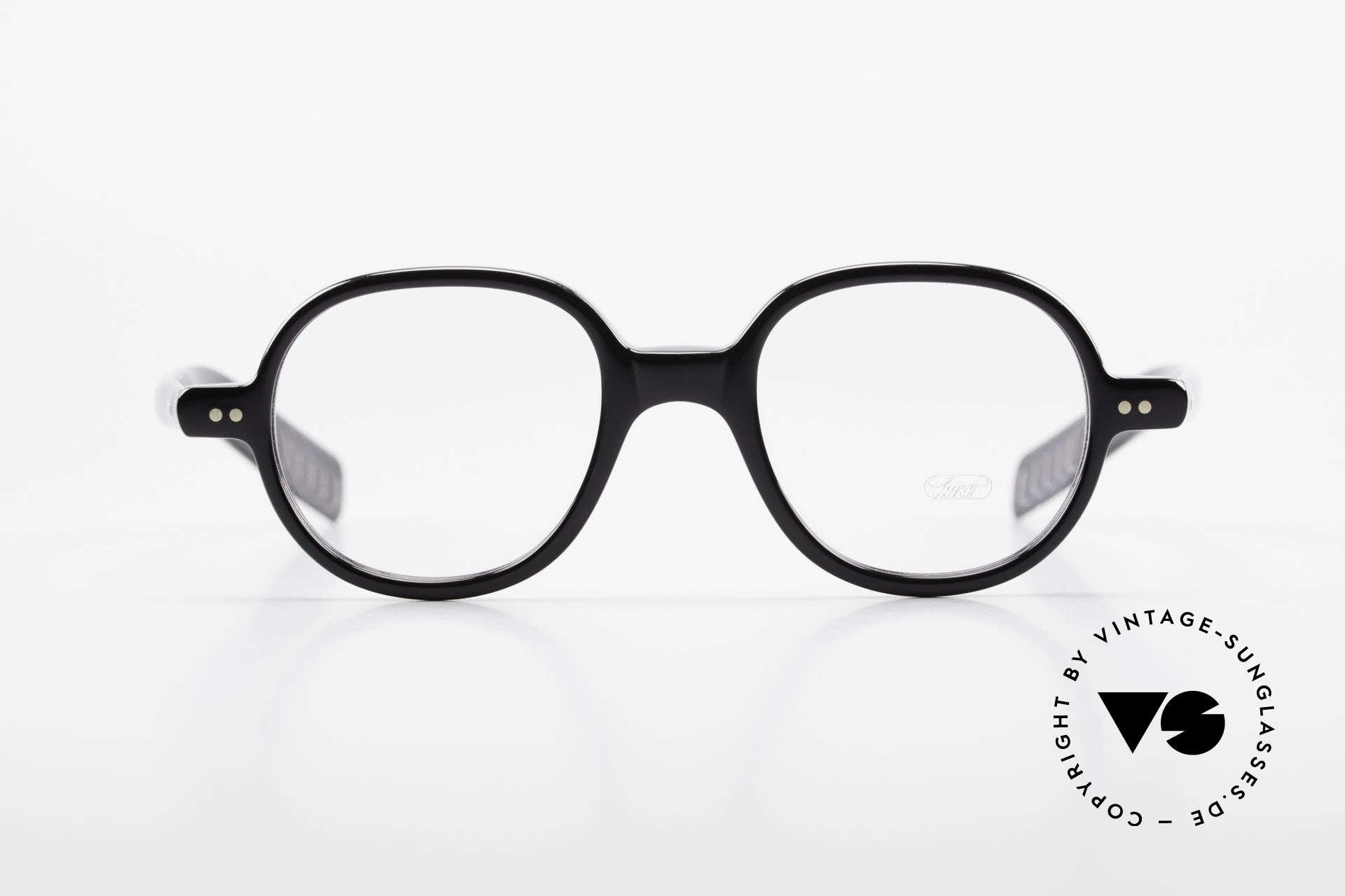 Lunor A50 Runde Lunor Acetatbrille Panto, Nietscharniere und zehntelmillimetergenau gefräst, Passend für Herren und Damen