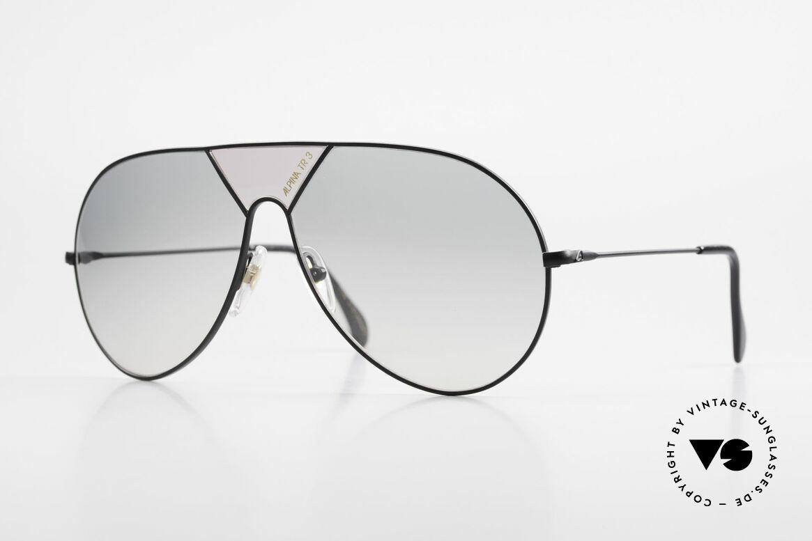 Alpina TR3 80er XL Sonnenbrille Limited, Limited Edition der 80er Alpina TR3 Sonnenbrille, Passend für Herren