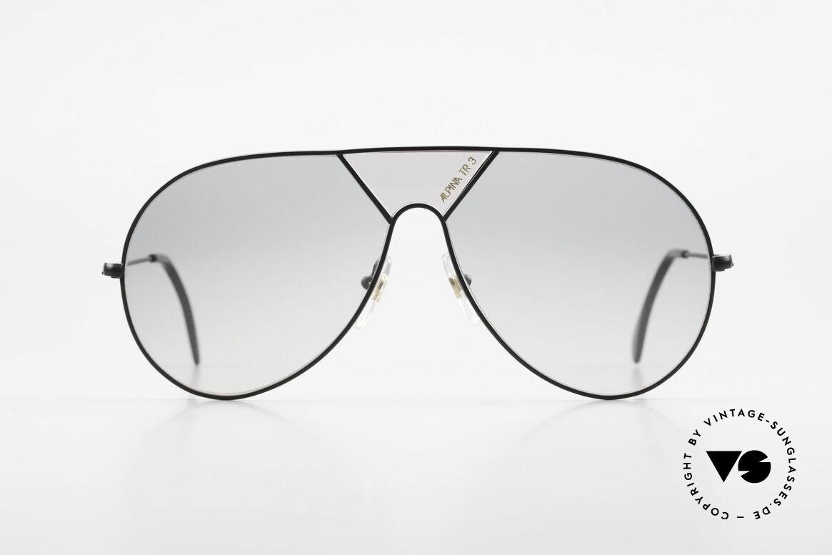 """Alpina TR3 80er XL Sonnenbrille Limited, mit dem """"ALPINA TR3"""" Schriftzug im Mittelteil, Passend für Herren"""