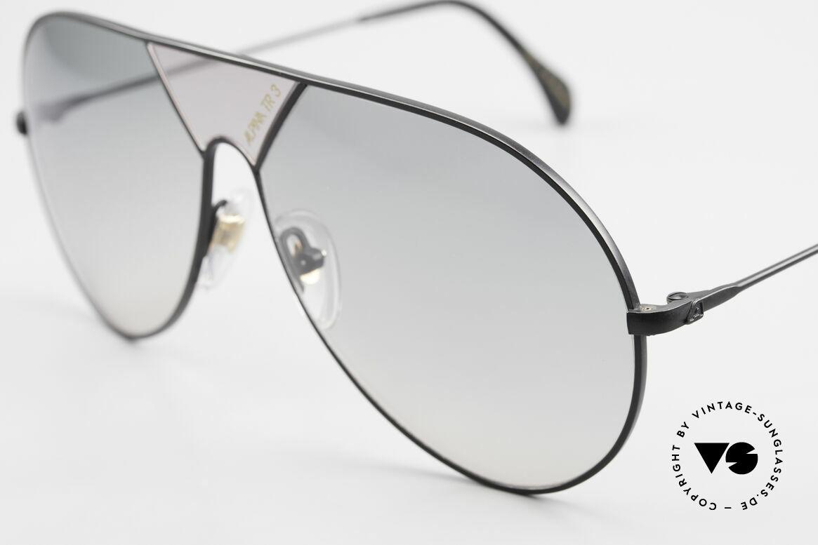 Alpina TR3 80er XL Sonnenbrille Limited, altes W. Germany Original von 1986 (mit 100% UV), Passend für Herren