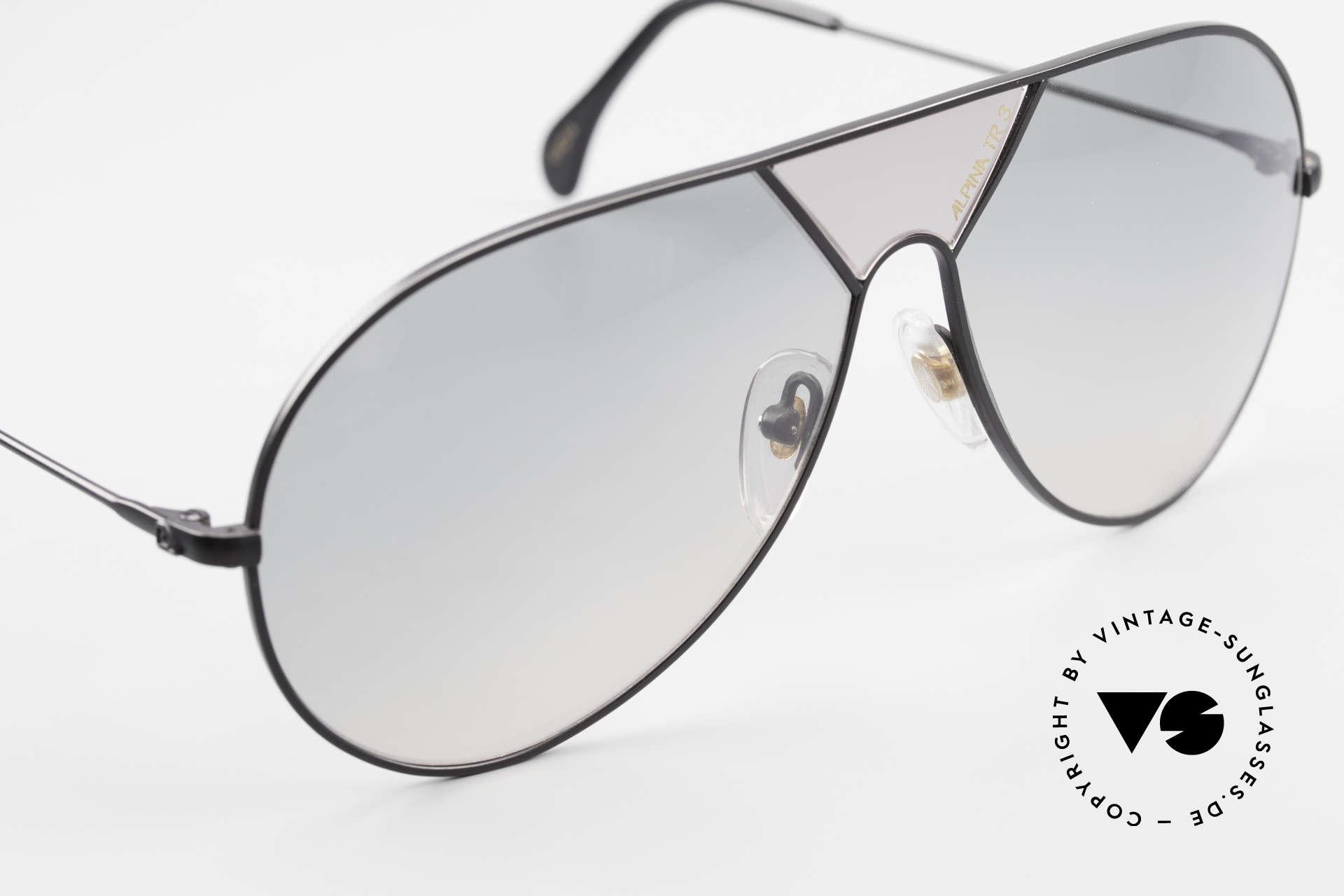 Alpina TR3 80er XL Sonnenbrille Limited, ungetragen (wie alle unsere ALPINA Sonnenbrillen), Passend für Herren