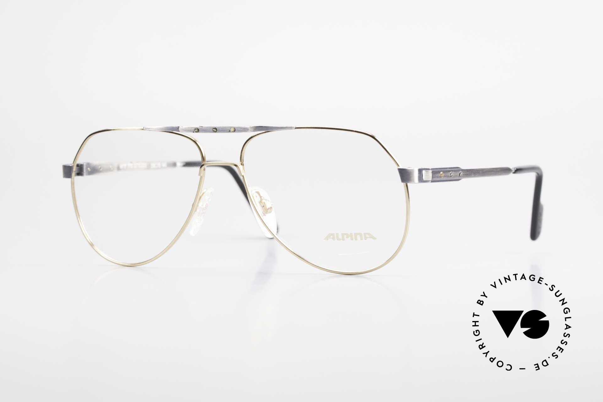 Alpina M1F770 Vintage Brille Pilotenstil 90er, Alpina vintage Brille M1F770 in Gr. 59/15, 140, Passend für Herren