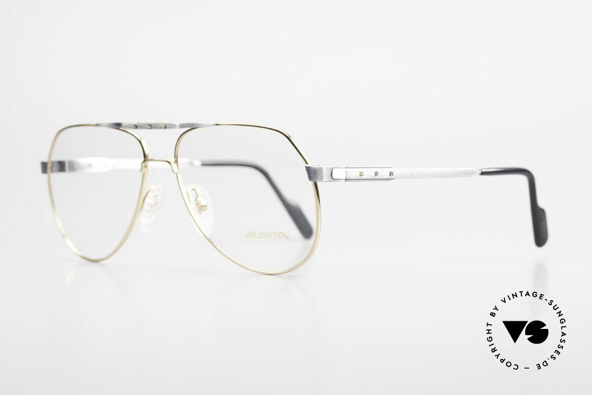 """Alpina M1F770 Vintage Brille Pilotenstil 90er, eine wirklich sehr interessante """"used"""" Lackierung, Passend für Herren"""