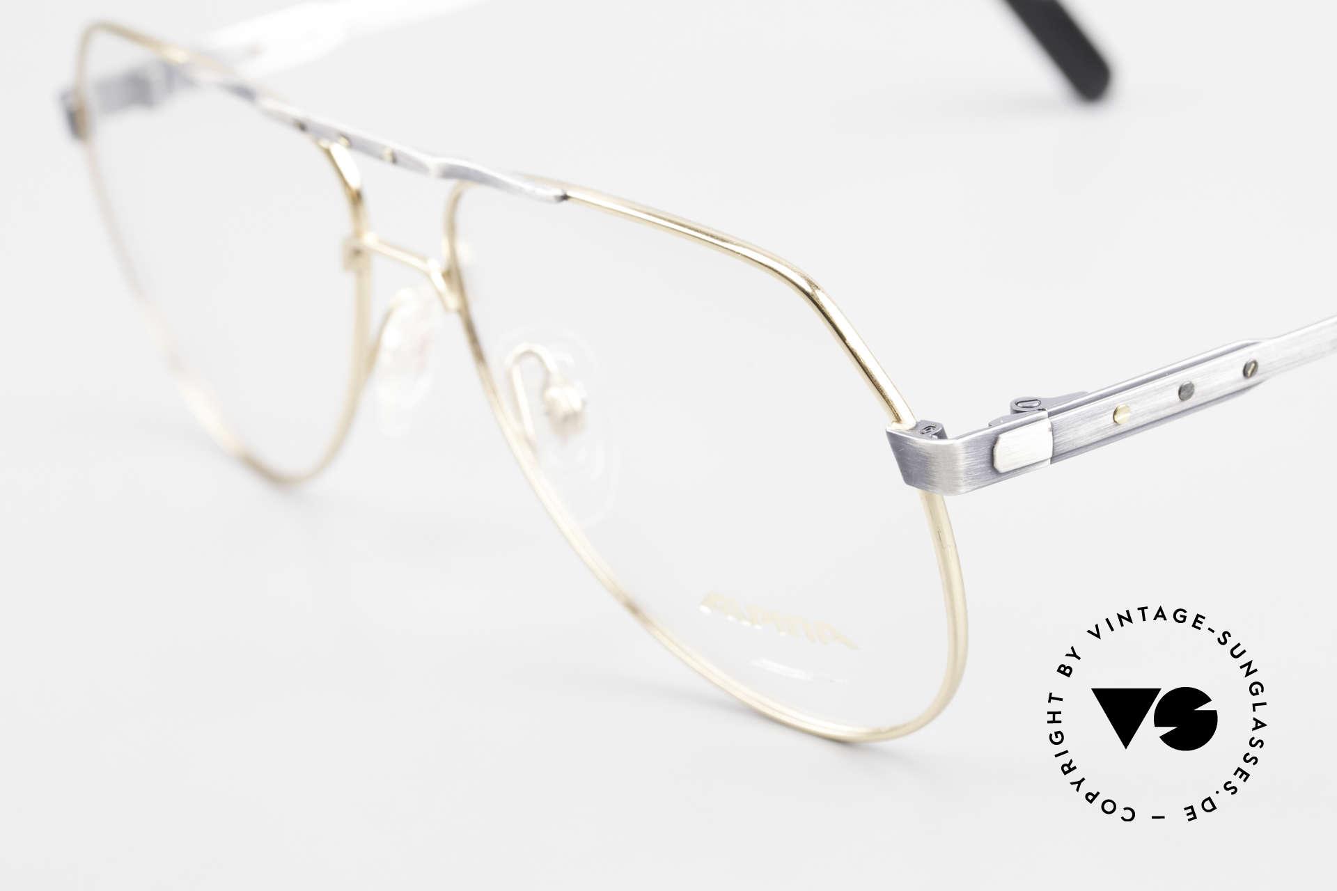 Alpina M1F770 Vintage Brille Pilotenstil 90er, mit den unverwechselbaren Alpina Zierschrauben, Passend für Herren
