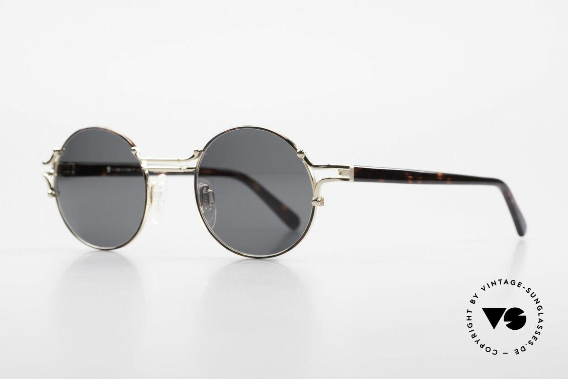 Neostyle Academic 8 Runde Vintage Sonnenbrille, absolute Premium-Qualität (made in Germany), Passend für Herren und Damen