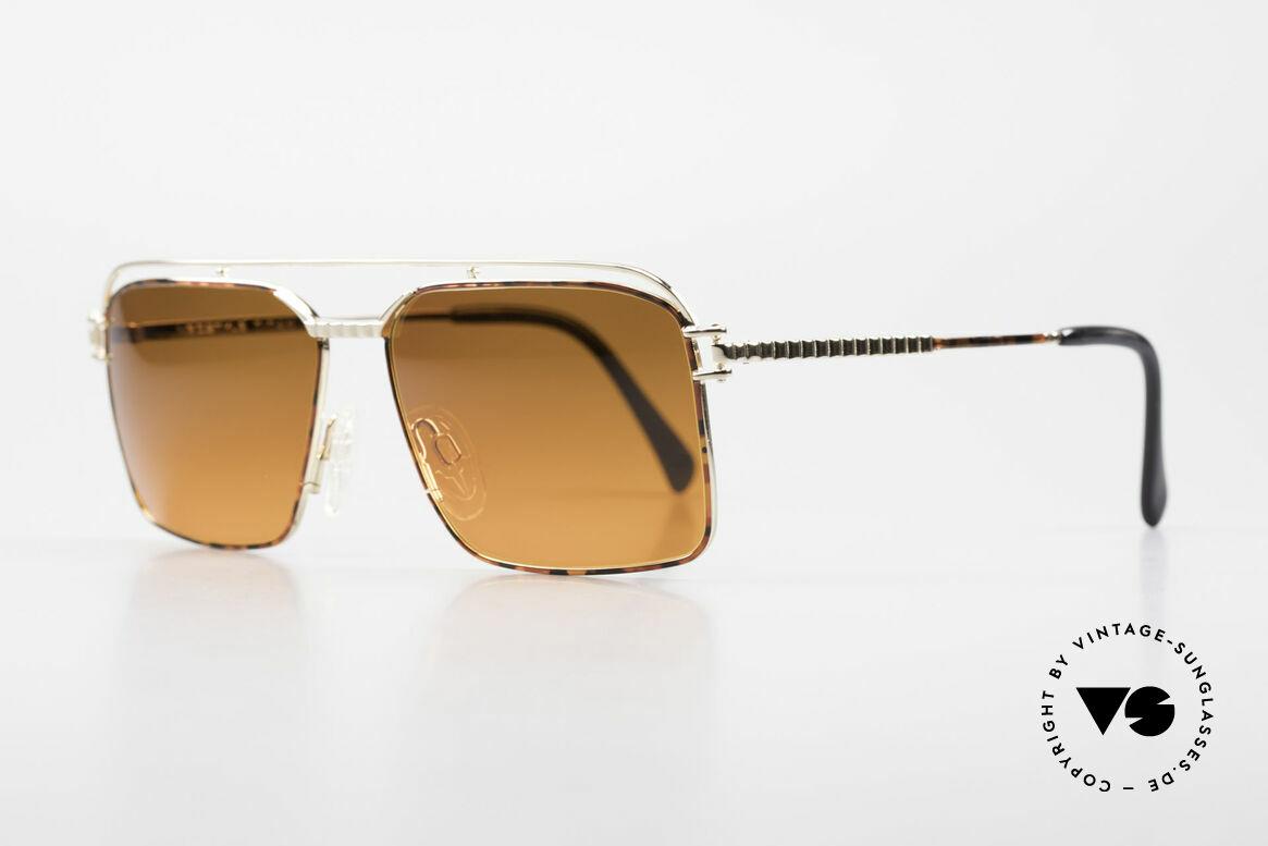 Neostyle Dynasty 424 - L 80er Herrensonnenbrille Titan, verglast mit seltene Sunset-Gläsern (UNIKAT), Passend für Herren